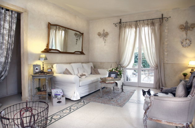 Lampadario camera da letto fai da te for Salotto shabby chic