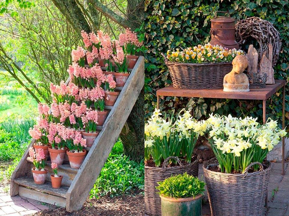 Nel giardino di elisabeth e silke shabby chic mania by for Decorazioni in ferro per giardino