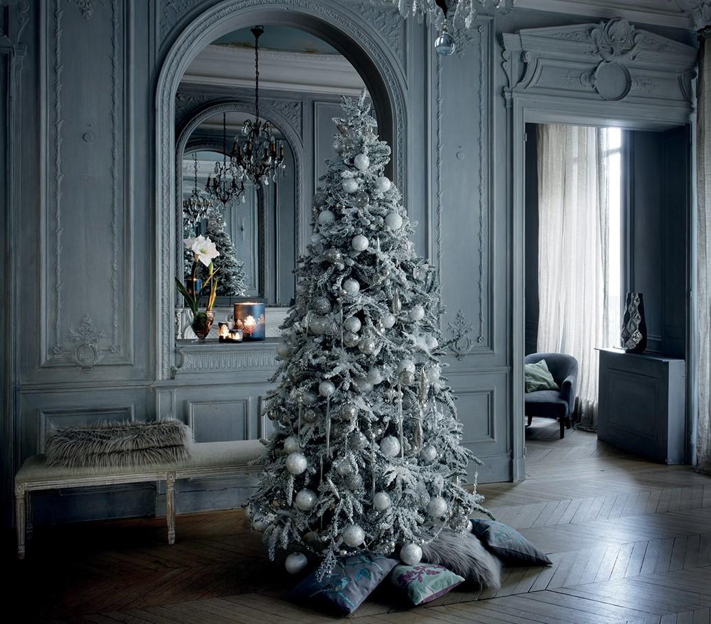 Foto Alberi Di Natale Bianchi un albero di natale bianco ghiaccio | shabby chic mania by