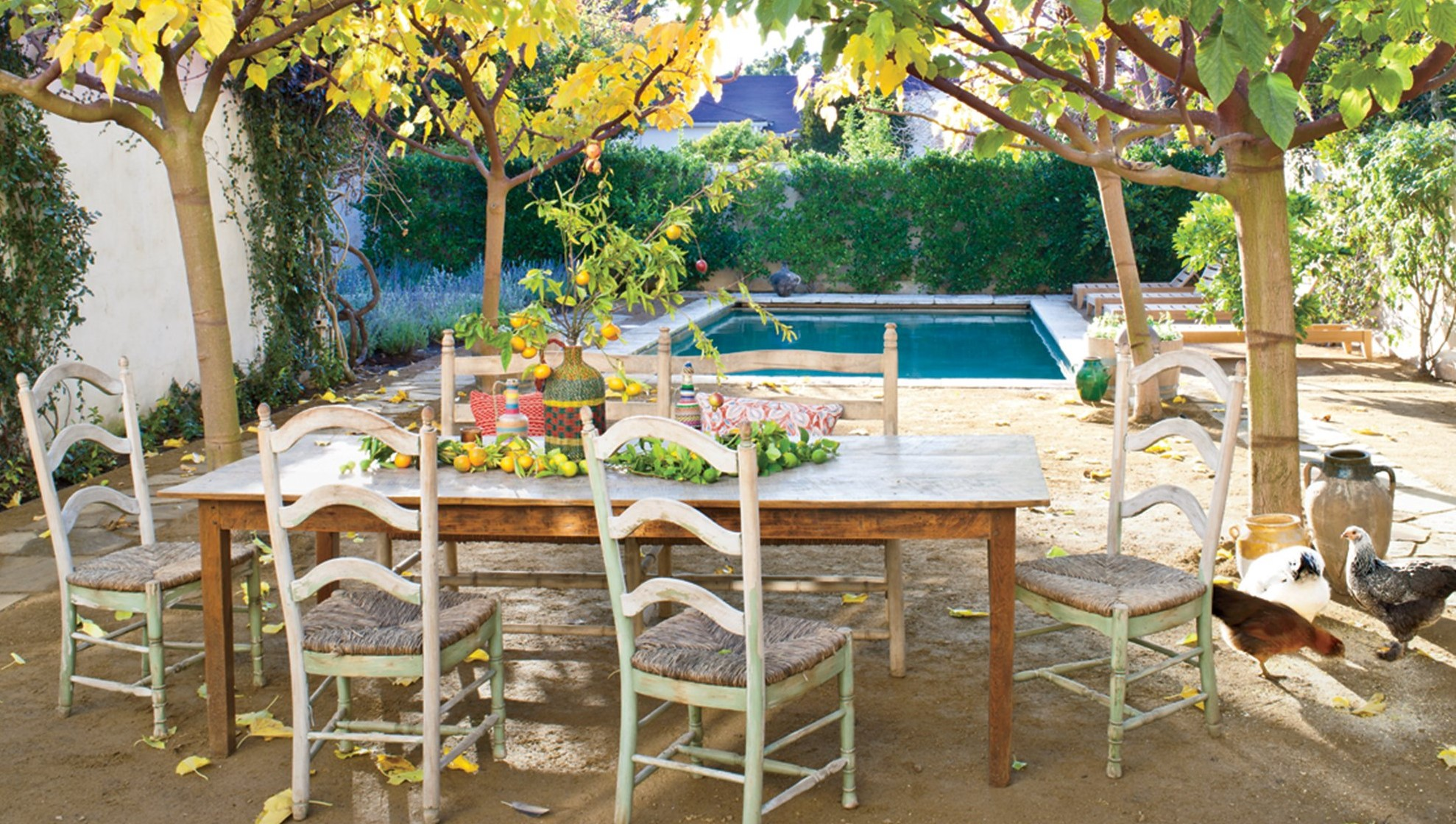 French country style a los angeles shabby chic mania by for Casa coloniale francese