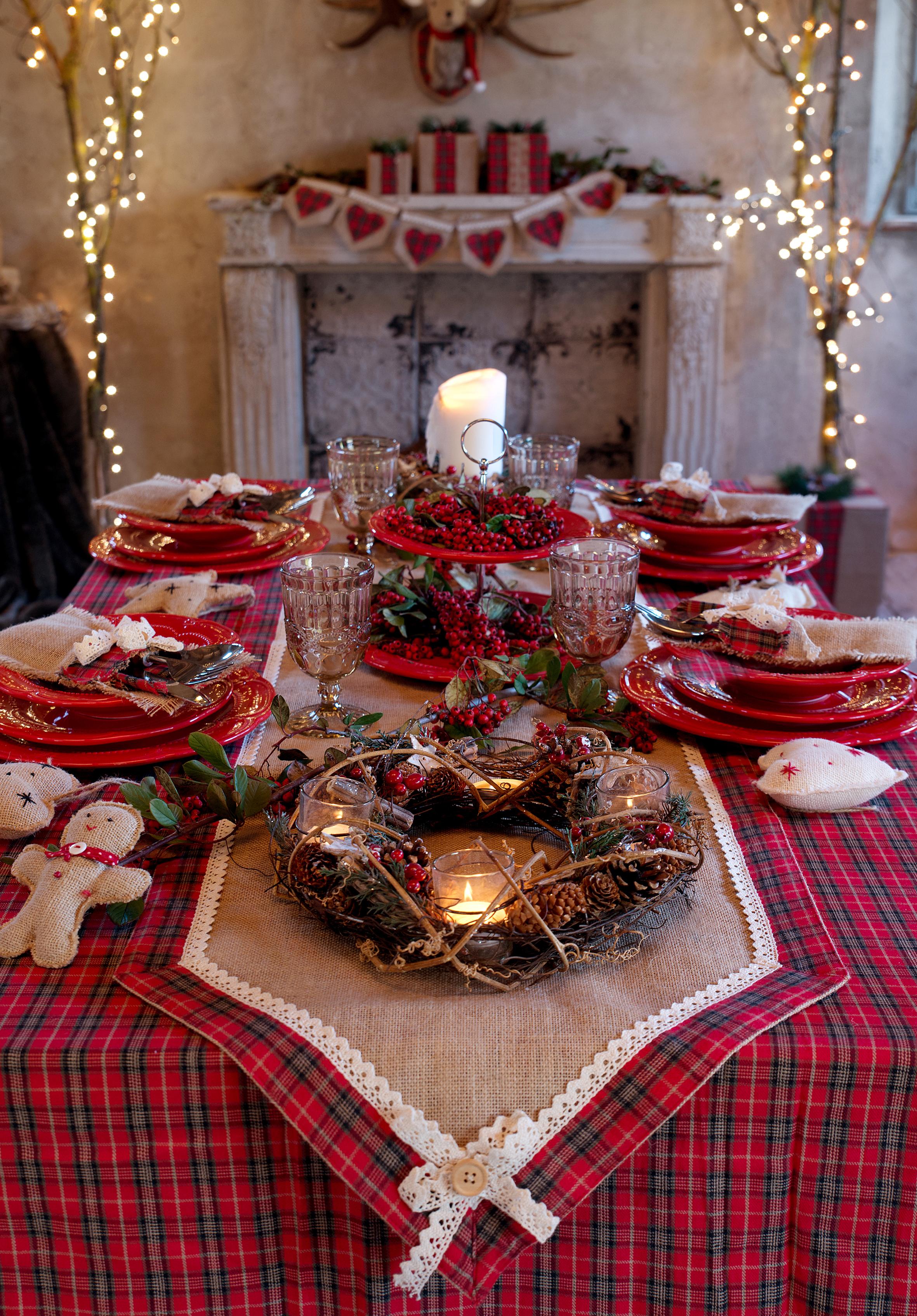 Il natale 2016 di blanc maricl shabby chic mania by - Addobbi natalizi per tavola da pranzo ...