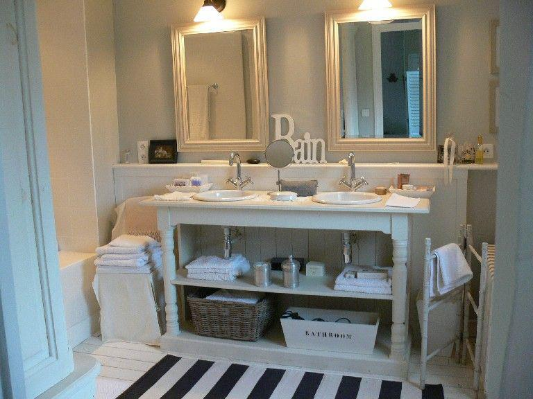 Maison d hotes in piccardia le trentetrois shabby chic for Bagno in francese