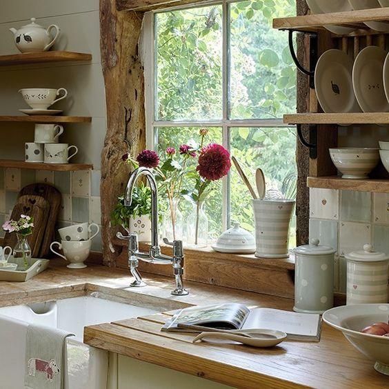 Come arredare la cucina in stile vintage shabby chic - Cucina stile vintage ...