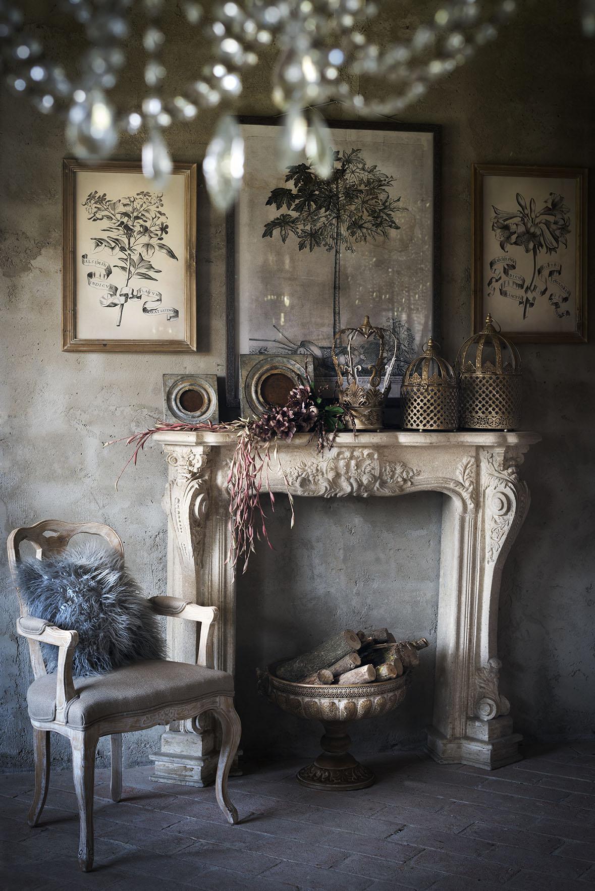 Legno Decorativo Per Camino caminetti french style: le cornici in legno   shabby chic
